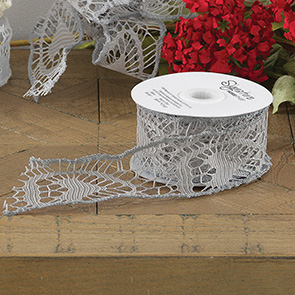 Lace Ribbon Gray, (Set/2)