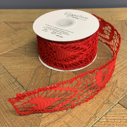 Lace Ribbon Red, (Set/2)
