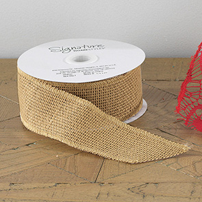 Burlap Ribbon, Natural, (Set/2)