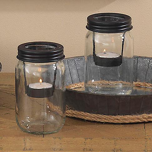 Signature Homestyles Mason Jar Tealight Holder Set