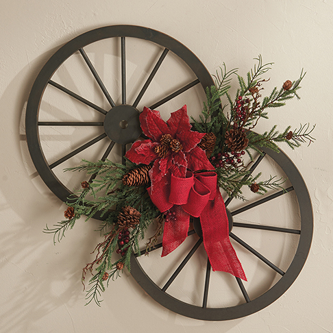 Lovely Signature HomeStyles - Wagon Wheel Wall Decor LN81