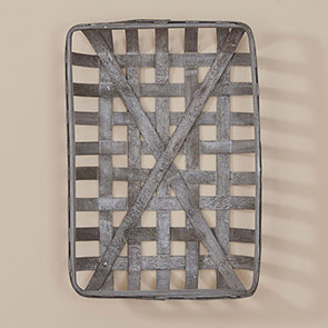 """Long Tobacco Basket, Gray"""
