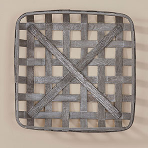 """Square Tobacco Basket, Gray"""