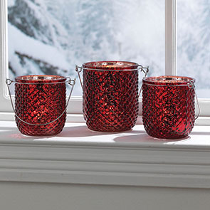 Festive Tealight Set, Red