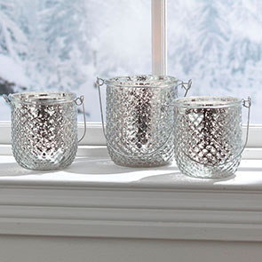 Festive Tealight Set, Silver