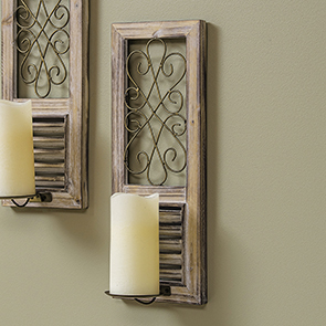 Scroll Top Sconce