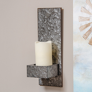Galvanized Metal Sconce