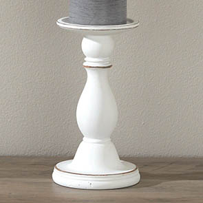 Classic Candle Holder Small, Whitewash