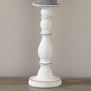 Classic Candle Holder Tall, Whitewash