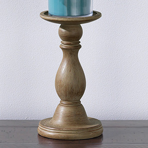 Classic Candle Holder Small, Weathered Wood