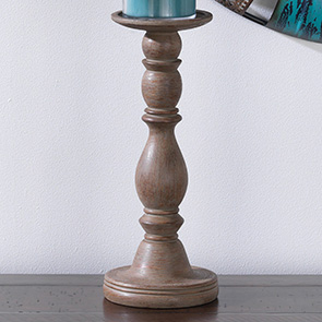 Classic Candle Holder Tall, Weathered Wood