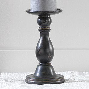 Classic Candle Holder Small, Distressed Blk