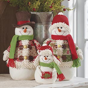 Country Snowman Family