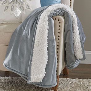 Velvet Throw, Gray