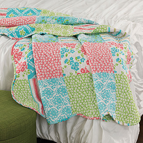 Floral Patch Quilted Throw