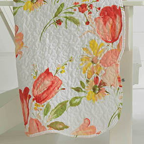 Summer Flowers Quilted Throw