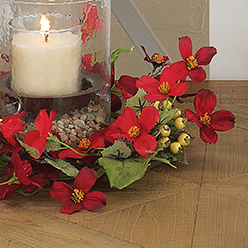 Dogwood Wreath, Red
