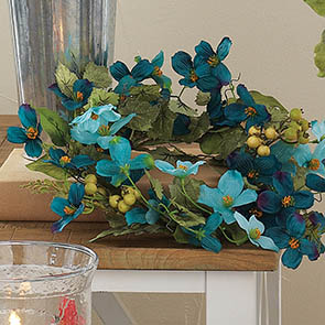 Dogwood Wreath, Teal