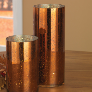 Tall LED Cylinder, Copper