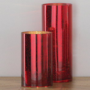 Tall LED Cylinder, Red
