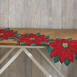 Poinsettia Cutout Runner