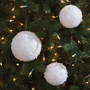 Set/3 Snowball Ornaments