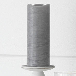 "LED Candle 8"", Gray"