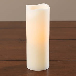 """LED Candle with Timer, Ivory 8"""""""