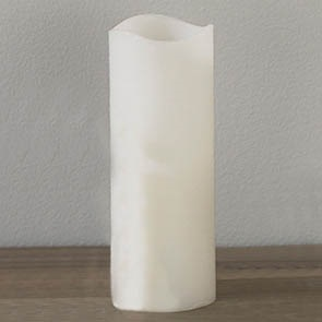"""LED Candle with Timer, White 8"""""""