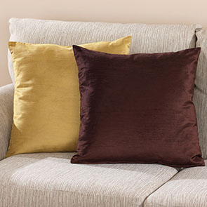 Reversible Pillow Cover, Brown/Gold