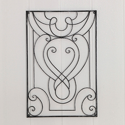 Wall Grille, Antique Gray