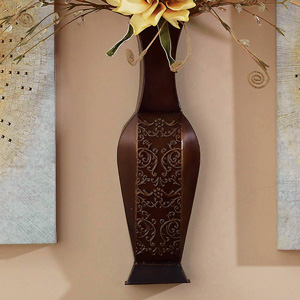 Aurora Wall Pocket Vase, Bronze