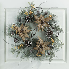 Woodland Poinsettia Wreath