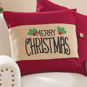 Merry Christmas Pillow Wrap