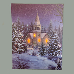 Winter Church LED Print