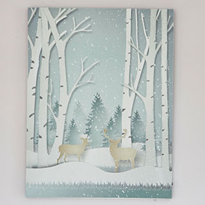 Wintery Forest LED Print