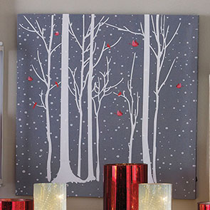 Red Birds LED Print