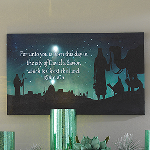 For Unto You is Born LED Print