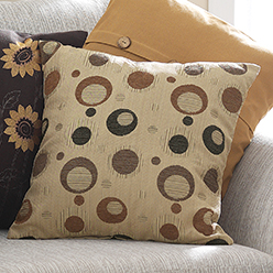 Classic Circles Pillow Cover, Tan