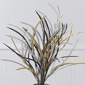 Tall Paper Grass Stem Set, Metallic