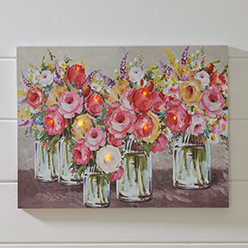 Flowers in Jars LED Print