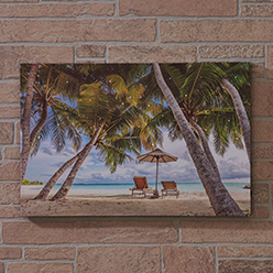 Under the Palm Trees LED Print