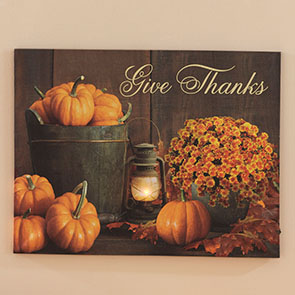 Give Thanks LED Print