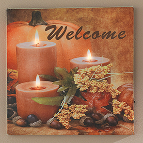Autumn Welcome LED Insert