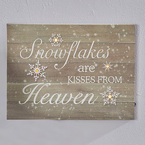 Snowflakes From Heaven LED Print