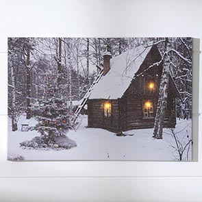 Cabin in the Woods LED Print