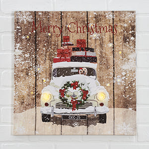 Christmas Car Ride LED Print