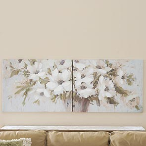 White Flowers Print Set