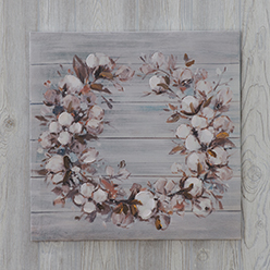 Cotton Wreath Print