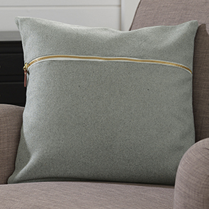 Zipper Pillow Cover, Light Gray